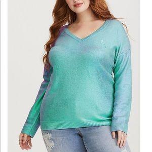 Torrid Disney Ariel little Mermaid foil sweater 5